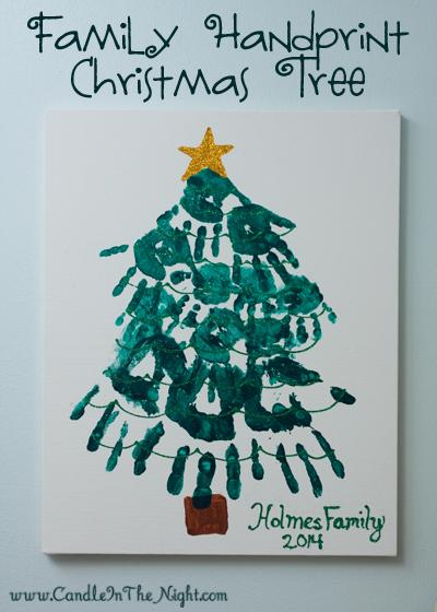 How To Make A Family Handprint Christmas Tree